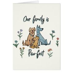 Easter canvas print flower print gifts floral idea giftideas dogs in the garden iv our family is paw fect card negle Choice Image