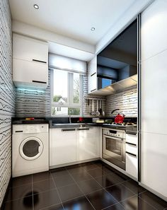 Wet #kitchen With #concrete Top Glass Kitchen With Concrete Top