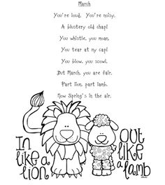 in like a lion out like a lamb clip art | Grab-a-graphic - 'In ...