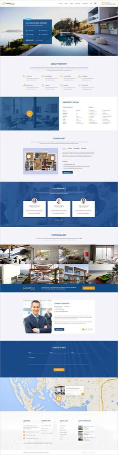 Buy Landmark - Real Estate PSD Template by NooThemePSD on ThemeForest. Landmark is a versatile and visually stunning PSD Template which crafted with care for property listing portal, as w. Website Layout, Web Layout, Layout Design, Ui Design, Corporate Website Design, Website Design Company, Website Designs, Custom Web Design, Web Design Tips