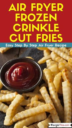 Delicious crunchy not soggy crinkle cut fries cooked from frozen in the air fryer. Delicious crunchy not soggy crinkle cut fries cooked from frozen in the air fryer. Air Fryer Recipes Wings, Air Fryer Recipes Chips, Air Fryer Recipes Appetizers, Air Fryer Recipes Vegetables, Air Fryer Recipes Low Carb, Air Fryer Recipes Breakfast, Air Fryer Dinner Recipes, Healthy Appetizers, Vegetable Recipes