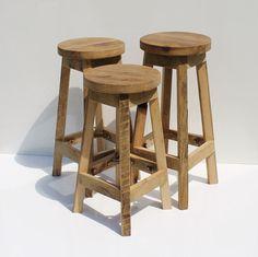 Bar Stool Rustic Reclaimed Barn Wood (Raw) w/Round Top 29 30 31 32 33 34 Tall Rustic Outdoor Bar Stools, Wood Bar Stools, Bar Chairs, Study Chairs, Dining Chairs, Pink Chairs, White Chairs, Office Chairs, Reclaimed Wood Bars