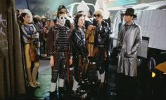 Future street punks extras from the movie Blade Runner.