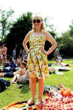 A Lemon Dress For A Lovely Picnic