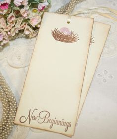 Baby Shower Wish Tree Tags  Bird Nest with by ShabbyPeaDesigns, $12.00