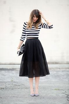 Love this Parisian-inspired outfit.