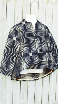 3 Sisters XL 12 14 Asymmetrical Tapestry Jacket Top Collection Black IC Pewter #3Sisters #BasicJacket #Versatile