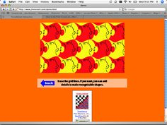 Tesselations.  A GREAT interactive tutorial on how to make a simple tesselation.  Use with MC Escher lesson.