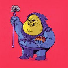 'Chunky' pop-culture characters by Chicago illustrator Alex Solis Fat Cartoon Characters, Cartoon Icons, Cute Characters, Cartoon Art, Fat Character, Character Design, Cultura Pop, Geeks, Famous Cartoons