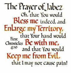prayer of jabez printable - Google Search