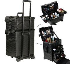 Ttaya プロ大容量 メイクケース バッグ キャリー コスメボックス 上部取り外し可能肩掛け 合皮防滴 化粧用品 小物 収納 おしゃれ  アーティストキャリアー