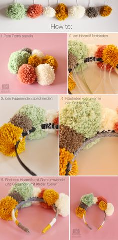 Kindertage | Pom Pom Crown DIY | http://kindertage.eu