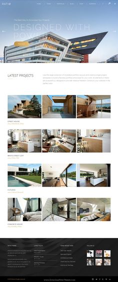 Ratio is Powerful WordPress Theme for #Architect, Construction, and #InteriorDesign #website. Download Now!