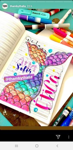 Bullet Journal Month, Bullet Journal Banner, Bullet Journal School, Bullet Journal Ideas Pages, Bullet Journal Inspiration, Cool Paper Crafts, School Notebooks, Graffiti Lettering, Lettering Tutorial