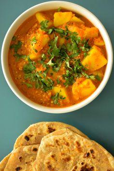 Spicy & tangy potato curry– batata rassa