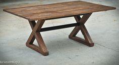 Reclaimed Wood Dining Table - The Kinzua - Custom Furniture. $1,575.00, via Etsy.