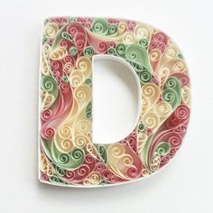 Personalized Monogram Paper Quilling by QuillingbyCourtney
