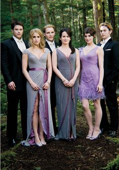 Love this photo of the gorgeous Twilight cast in wedding fashions!