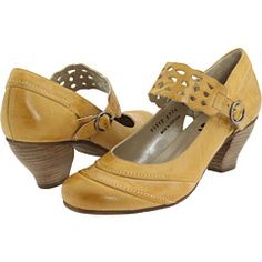#Zappos #Fidji - E774 yellow heels. $156.40 (on sale). An interesting take on the Mary Jane.