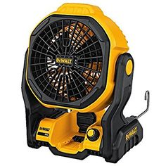 The DEWALT fan offers the options you need on the jobsite. Add it to your MAX system of tools, or run it by a cord. Stand it up, hang it, or mount it where you need, so its not in the Dewalt Cordless Tools, Dewalt Power Tools, Power Tool Batteries, Cordless Drill, Fans For Sale, Portable Fan, Big Battery, Garage Tools, Garage Workshop