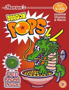 Dragon Pops cereal! Free radar inside! #DBZ