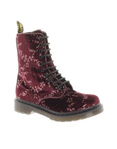 Dr Martens Cherry Velvet - not usually a Docks type of girl but I believe these are for Doc Godesses - sumptuous in velvet!