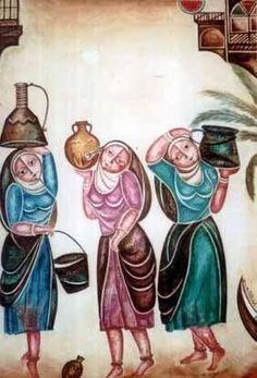 Iraqi art Getting water