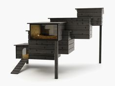Love how modern and funky this coop is.
