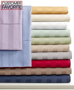 Charter Club Damask Stripe 500 Thread Count Sheet Sets (Only at Macy's) $170