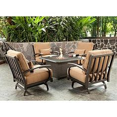 Costco Madison 5 Piece Conversational Seating With Fire Table Wish I