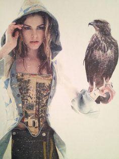 ╰☆╮ᏋηcђaηtᏋ∂ Magic ╰☆╮ §tar Ðu§t ÐrᏋam§╰☆╮ Woman holding eagle in the snow