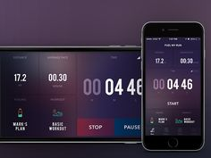 iPhone 6 Plus Run Sceen - by Chirag D | #ui