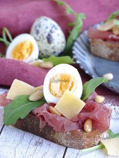 Hapjes: 5x luxe variëren met carpaccio - Bakkriebels Bruchetta, Tapenade, Pesto, Bbq, Appetizers, Eggs, Snacks, Breakfast, Lunches