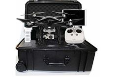 DJI Phantom 3 Professional Limited Edition Carbon Fiber color Bundle Kit + 1 battery + Case + Carbon Fiber Propellers Quadcopter Drone with 4K UHD Video Camera Only By Scorpion Drones - Phantom Quadcopter