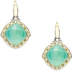 Tacori 18K825 Neolite Turquoise Diamond Earrings SE101Y08