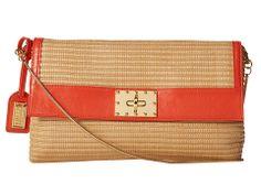Badgley Mischka Miranda Woven Reed Shoulder Bag