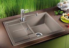 Chiuveta Granit Blanco Metra 45 S Compact Sampanie 680 x 500 mm Hue, Compact, Champagne, Sweet Home, Sink, Bathtub, Design, Home Decor, White People