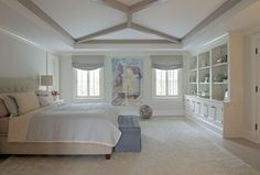 Painted Moldings Brooks & Falotico | Contemporary Master Suite Addition |