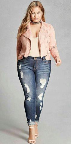 Moda Plus-size - look com Jaquetinha