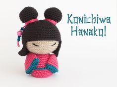 Amigurumi Kokeshi Doll - FREE Crochet Pattern / Tutorial here: http://lacalledelaabuela.blogspot.se/2016/05/hanako-la-pequena-kokeshi.html