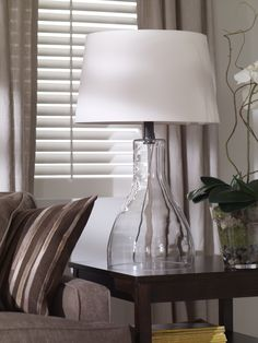 Our Nouveau Glass table lamp is a clear winner for casual and modern rooms.