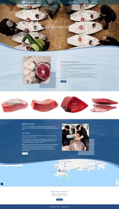 Megumi Foods, Inc. is a seafood wholesale company. Wholesale Companies, Modern Website, Tuna Recipes, Food Website, Portfolio Website, Wordpress, Web Design, Branding