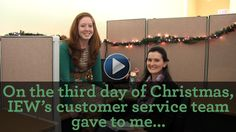 On the third day of Christmas, IEW gave to me...