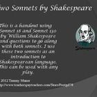 This is a handout using Sonnet 18 and Sonnet 130 by William Shakespeare and questions to go along with both sonnets. I use these two sonnets as an ...