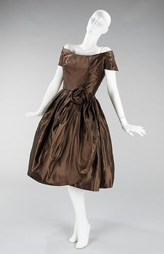 Cocktail Dress, House of Dior    Designer:  Christian Dior   Date:   fall/winter 1956–1957
