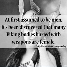 Viking women, interesting!
