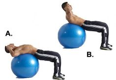 The Upper Abs Trifecta - Exercise Swiss Ball Ab Crunches Sixpack Abs Workout, Ab Workout Men, Best Ab Workout, Workout Plans, Abdominal Exercises, Abdominal Muscles, Ab Exercises, Belly Fat Diet Plan, Tips