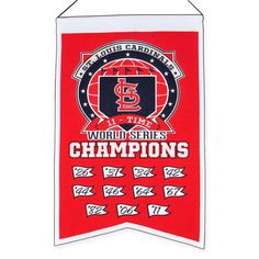St. Louis Cardinals Embroidered Wool 11-Time World Series Champions Traditions Banner