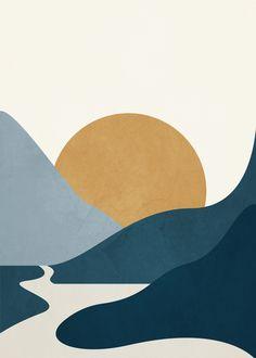 Abstract Sunrise 3 Art Print