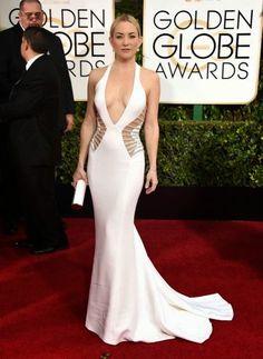 Los tacones de Karppi: GLOBOS DE ORO 2015. Kate Hudson de Versace.